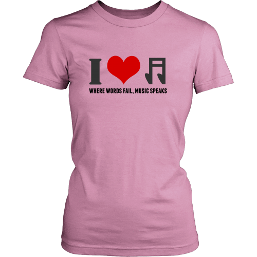 T-shirt - I Heart Music (District Made Womens Shirt)