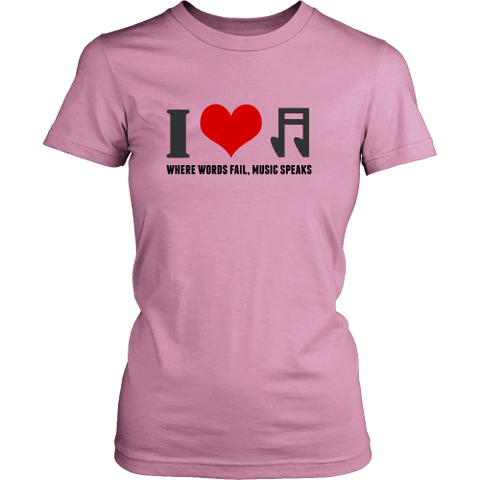 Image of T-shirt - I Heart Music (District Made Womens Shirt)