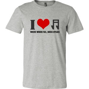 I Heart Music (Men's T-Shirt)