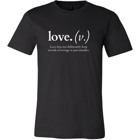 T-shirt - Love Does Not Deliberately Keep Records Of Wrongs (Men's T-Shirt)