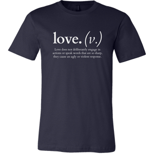 Love does not deliberately... (Men's T-Shirt)