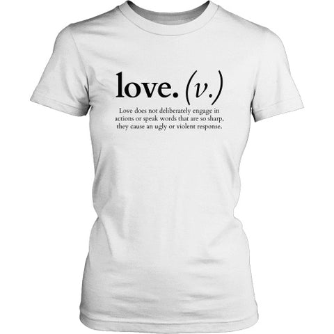 Image of T-shirt - Love Does Not Deliberately... (Women's T-Shirt)