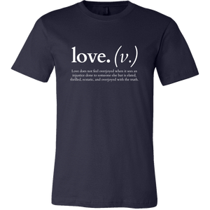 Love does not feel overjoyed... (Men's T-Shirt)