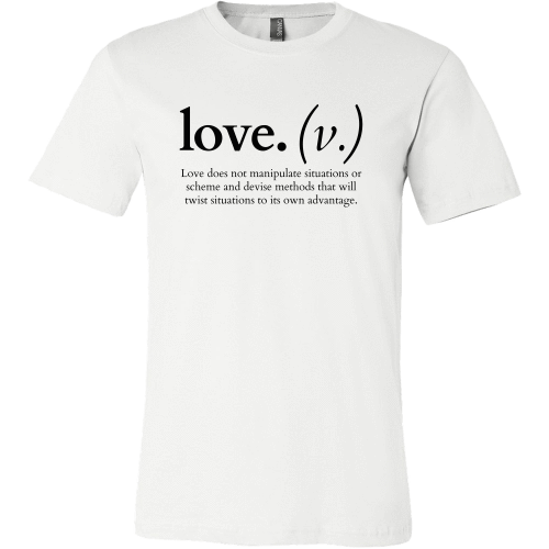 T-shirt - Love Does Not Manipulate (Men's T-Shirt)