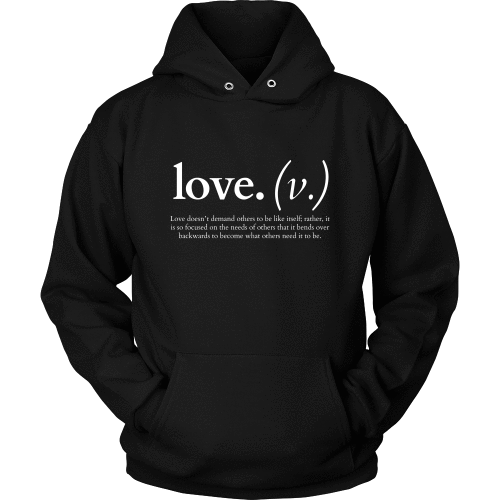 T-shirt - Love Doesn't Demand Others To Be Like Itself (Hoodie)
