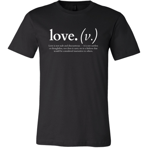 Image of T-shirt - Love Is Not Rude And Discourteous (Men's T-Shirt)