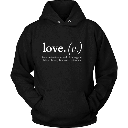 T-shirt - Love Strains Forward (Hoodie)