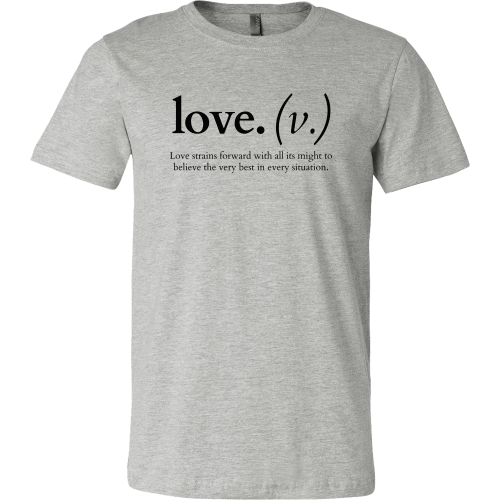 T-shirt - Love Strains Forward (Men's T-Shirt)