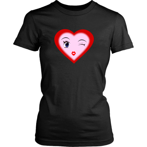 Image of T-shirt - Winking Heart (District Made Womens Shirt)