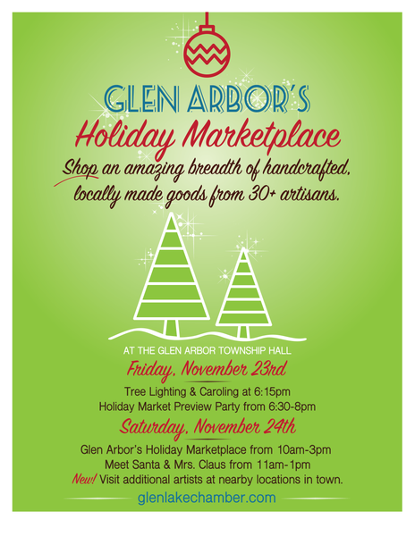 Glen Arbor Holiday Marketplace this Friday and Saturday!