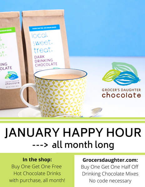 Our New January Happy Hour is ON!