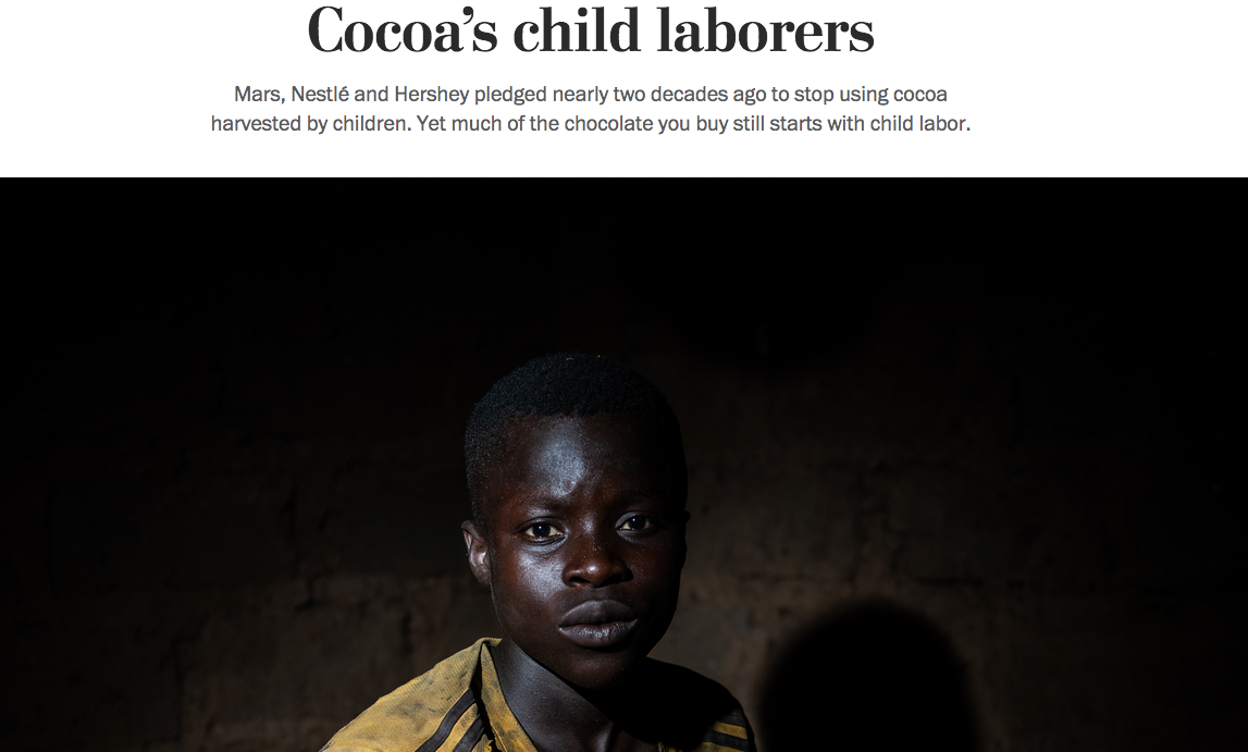 The Washington Post 'Cocoa's Child Laborers'
