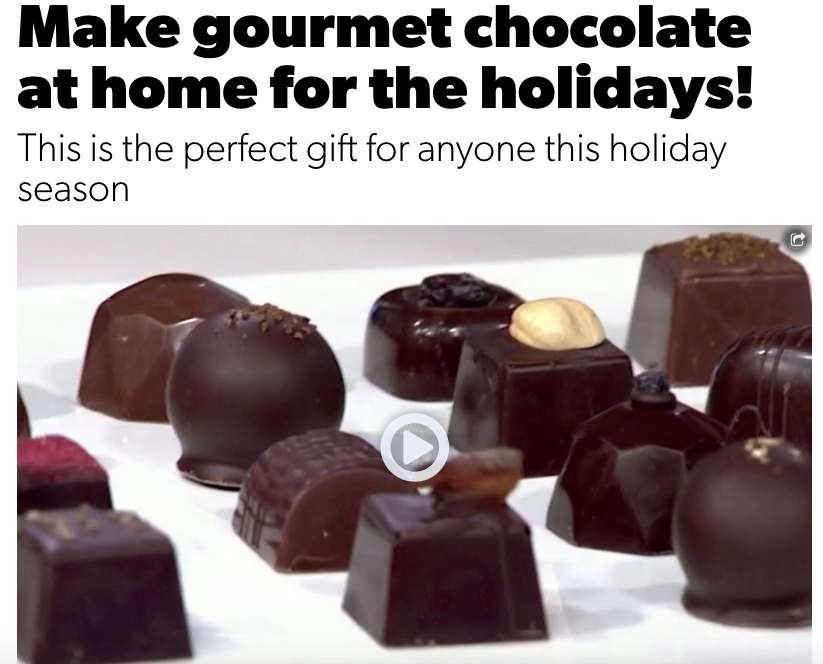Make chocolates at home for the holidays with co-owner DC Hayden