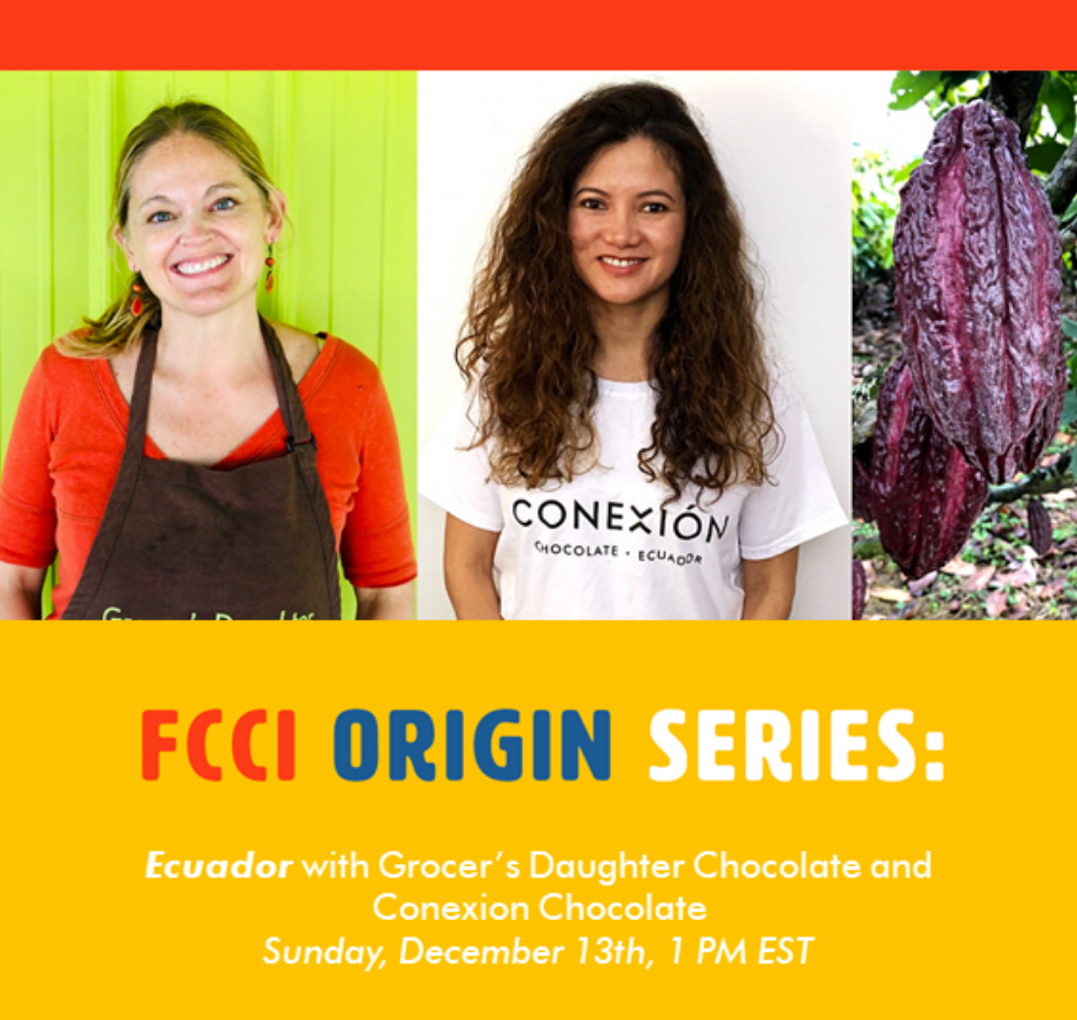 Fine Cacao and Chocolate Institute Origin Series This Sunday