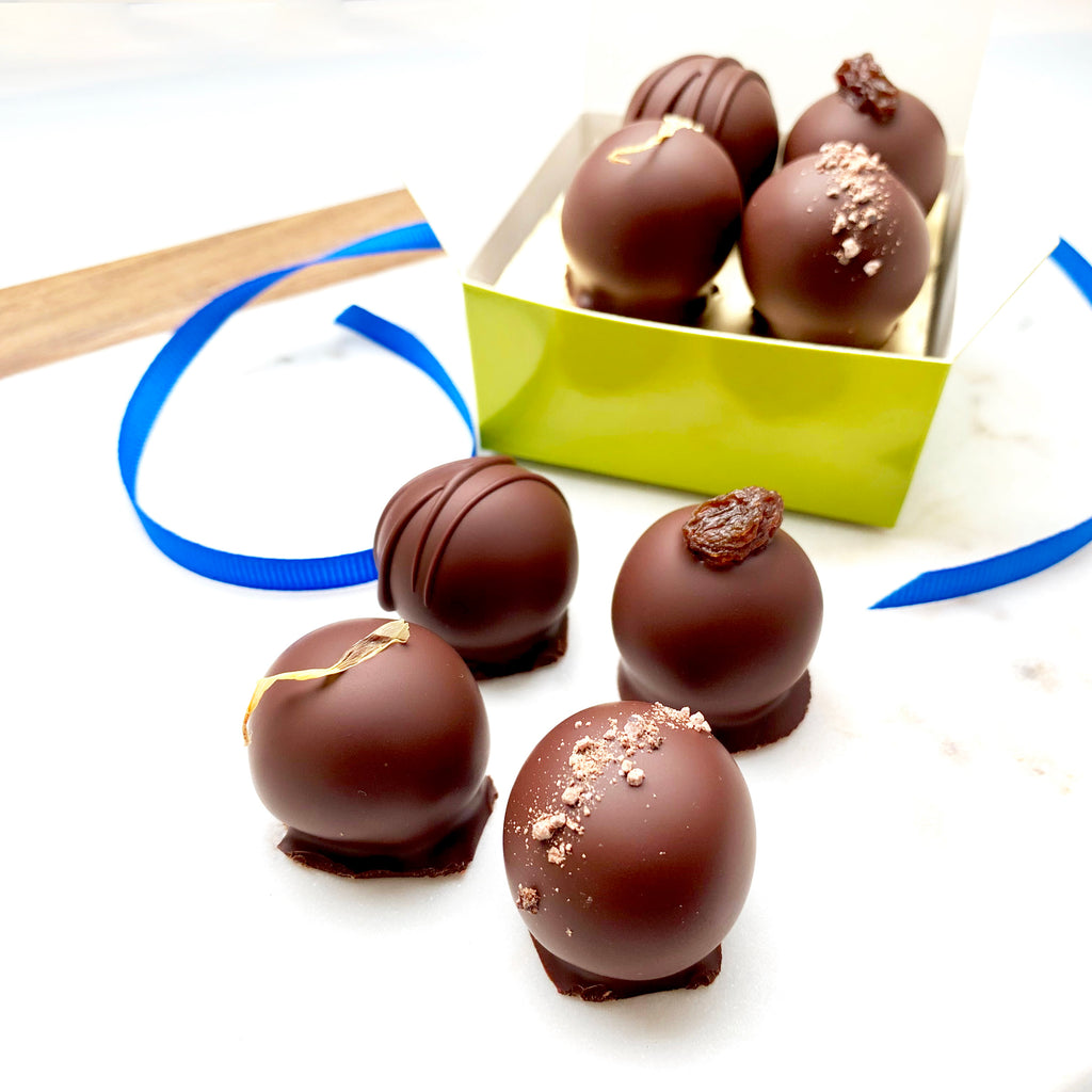 4 Piece | Single Origin Dark Chocolate Truffles
