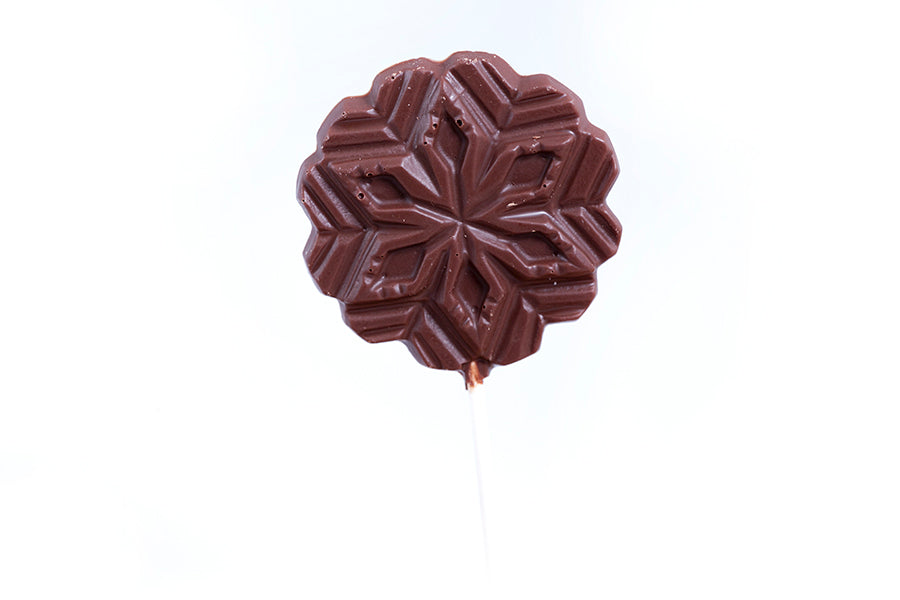 Solid Chocolate Snowflake Lollie
