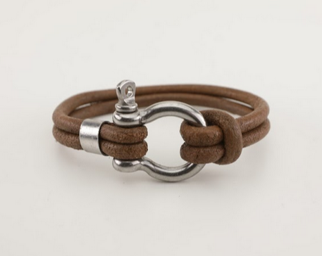 Stainless Steel Screw Clasp Leather Bracelet - Unisex-100% High Quality Genuine Leather-Waterproof - Chicatolia
