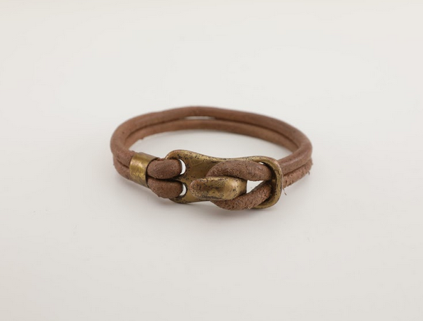 Hook Leather Bracelet - Unisex - 100% High Quality Genuine Leather- Waterproof - Chicatolia