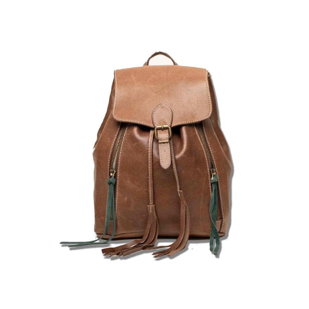 Leather Fringe Backpack - Chicatolia