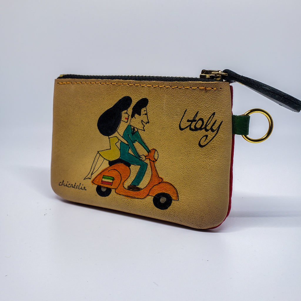 Italy Hand Painted Wallet 100% Handmade - Chicatolia