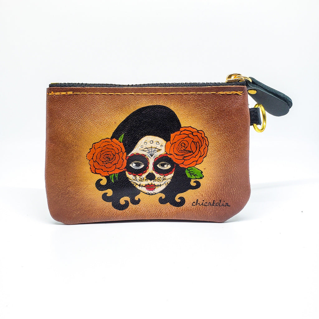Day Dead  Hand Painted Wallet  100% Handmade - Chicatolia