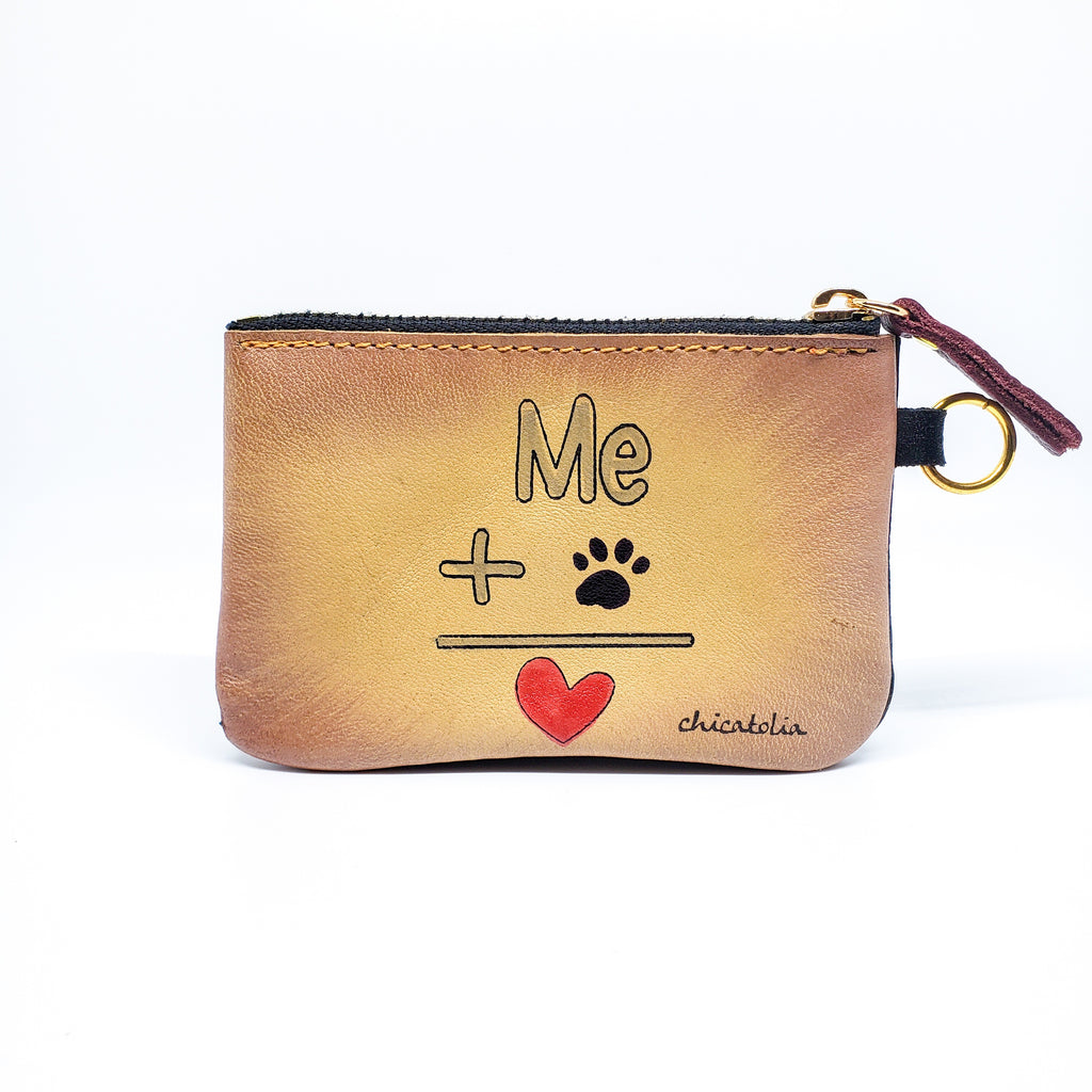 Me and Paw Hand Painted Wallet 100% Handmade - Chicatolia