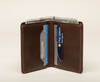 Card Holder - Wallet - 4 Compartments - Cowhide Leather - Vegetable Tanned - 100% Handmade - Chicatolia