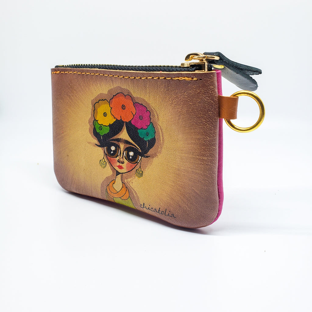 Frida Hand Painted Wallet 100% Handmade - Chicatolia