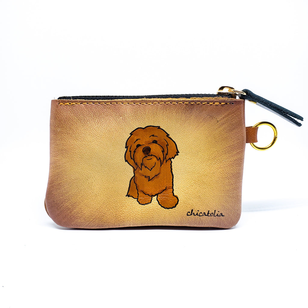 Doggy Hand Painted Wallet 100% Handmade - Chicatolia