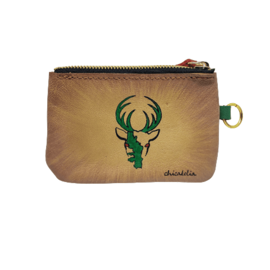 Deer Hand Painted Wallet 100% Handmade - Chicatolia