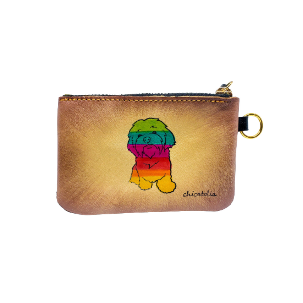 Colorful Doggy Hand Painted Wallet 100% Handmade - Chicatolia