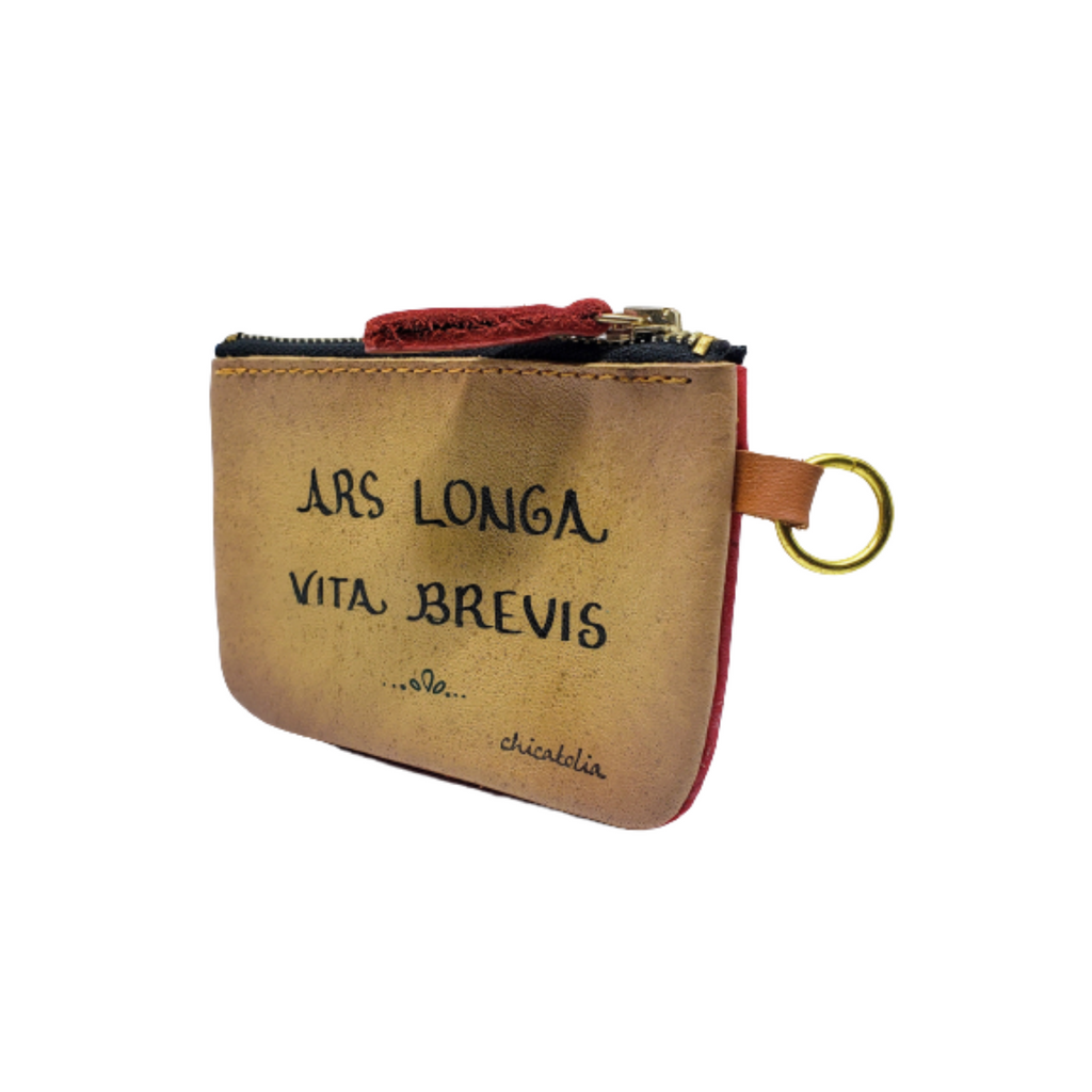 Ars Longa Hand Painted Wallet 100% Handmade - Chicatolia