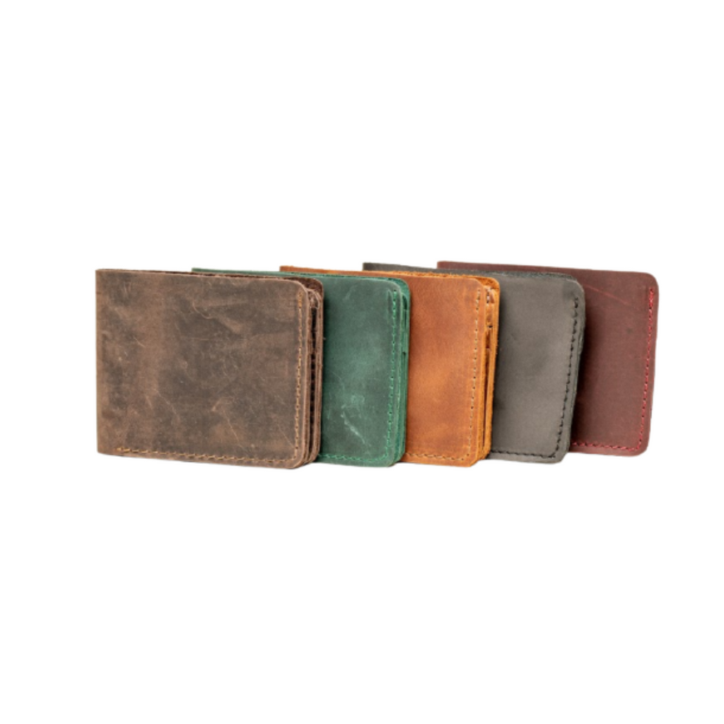 Leather Wallet - Card Holder - 6 Card Pockets and 2 Compartments - Cowhide Leather - Vegetable Tanned - 100% Handmade chicatolia.myshopify.comChicatolia