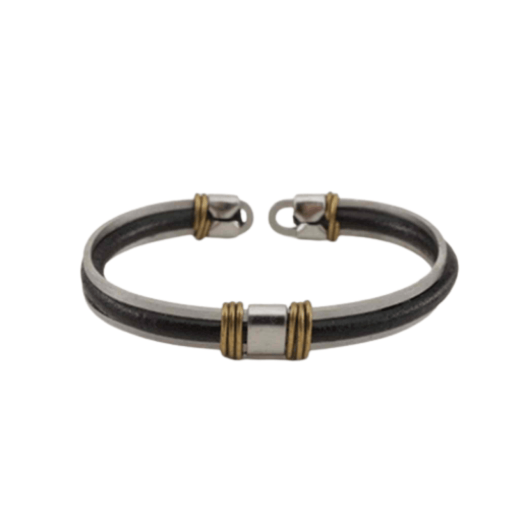 Black Leather Bracelet - Unisex - 100% High Quality Genuine Leather - Waterproof - Chicatolia