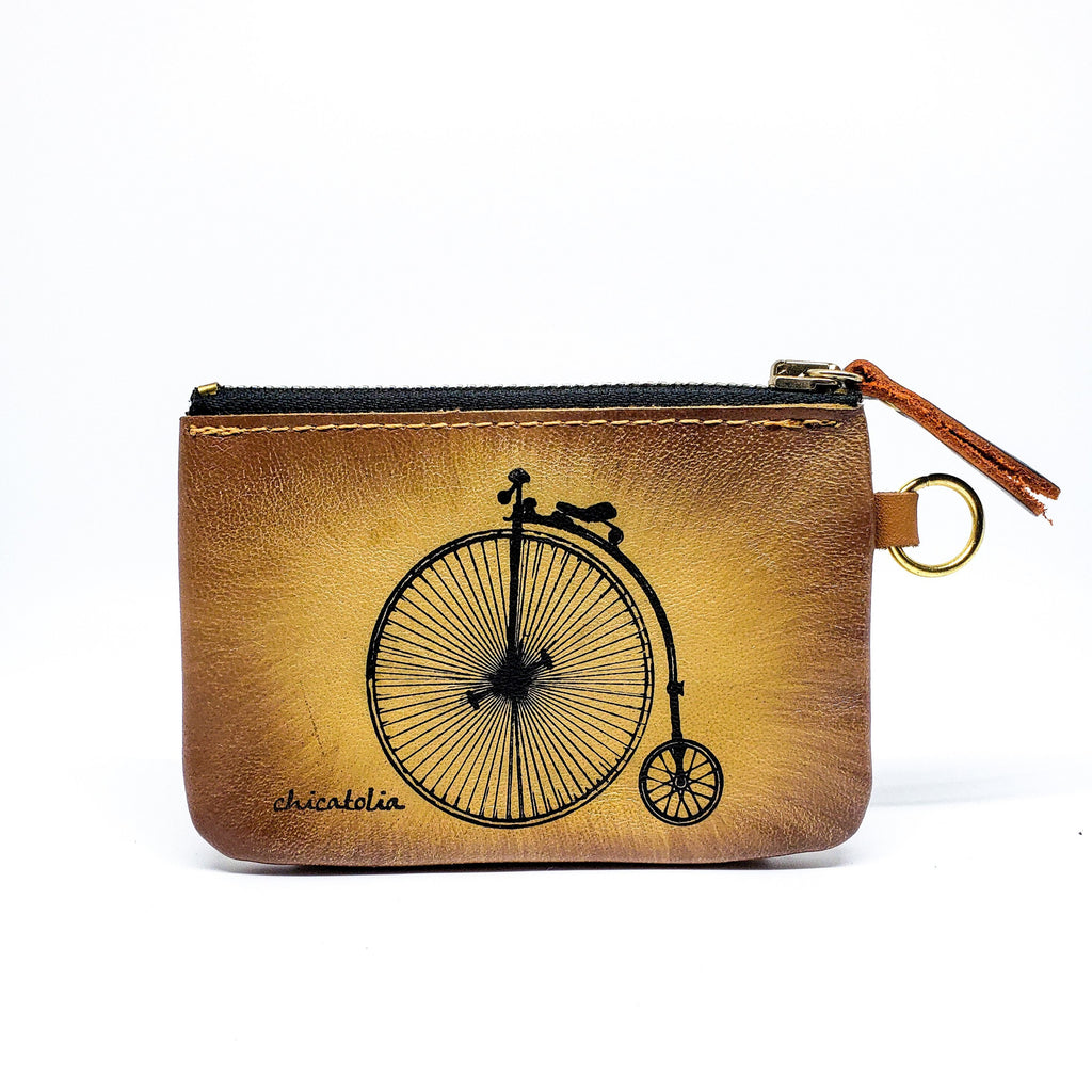 Bike Old Hand Painted Wallet 100% Handmade - Chicatolia