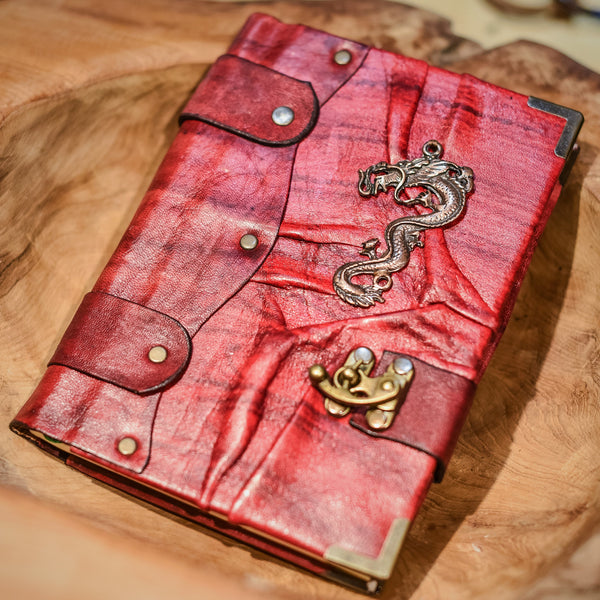 Belt Strap Leather Journal - Dragon - Chicatolia