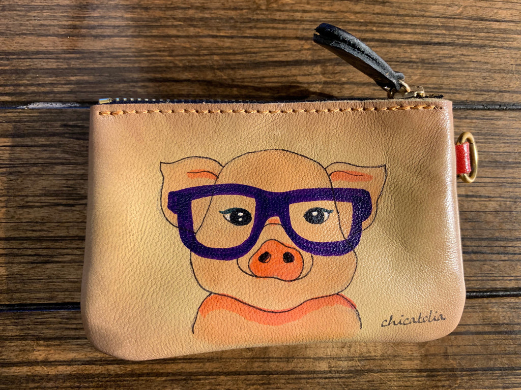 HP-M80 Piggy with Glasses Wallet - Chicatolia