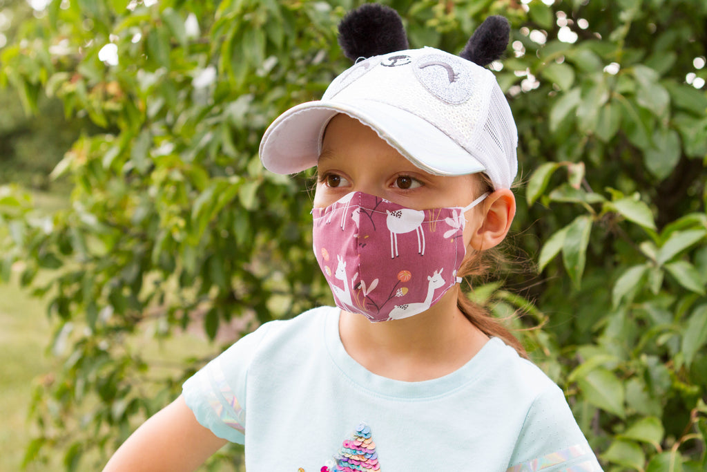 Deers - Organic Cotton Face Mask for Kids - Colorful Fabric Designs - Antibacterial and Antifungal - Chicatolia
