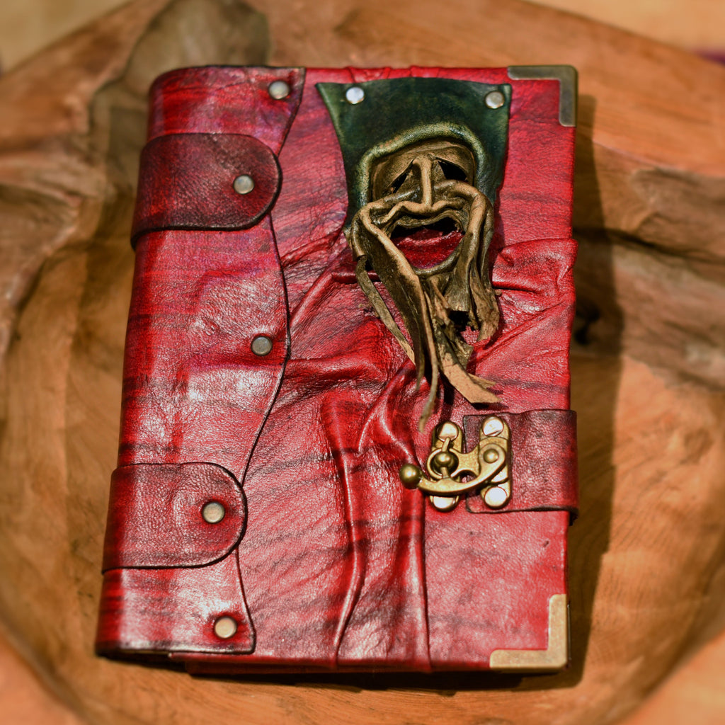 Belt Strap Leather Journal - Mask Face - Chicatolia