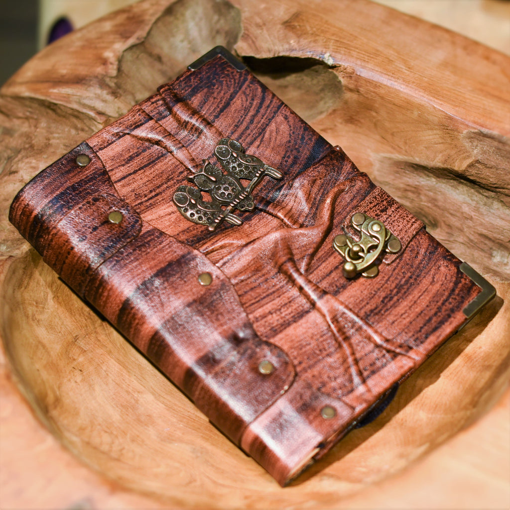 Belt Strap Leather Journal - Three Owls - Chicatolia