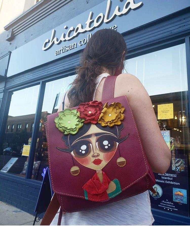 Frida Leather Backpack - Chicatolia