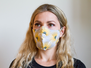 Sunrise - Organic Cotton Face Mask - Colorful Fabric Designs - Antibacterial and Antifungal - Chicatolia