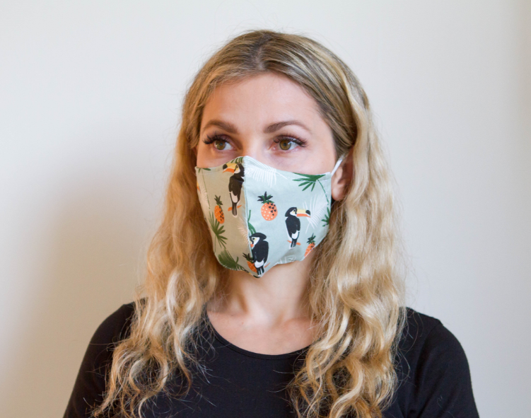 Organic Cotton Face Mask - Colorful Fabric Designs - Antibacterial and Waterproof - Chicatolia