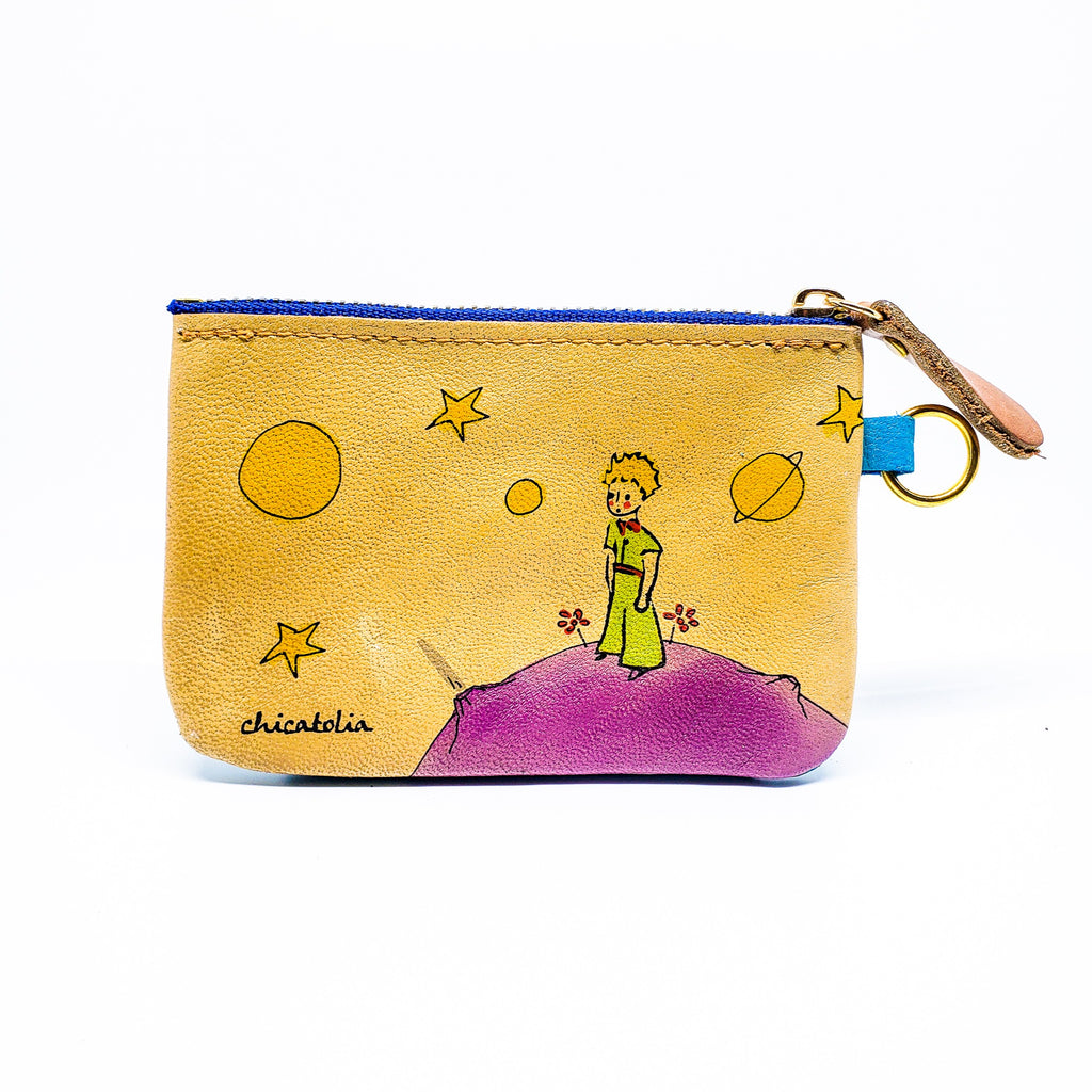Little Prince Hand Painted Wallet  100% Handmade - Chicatolia
