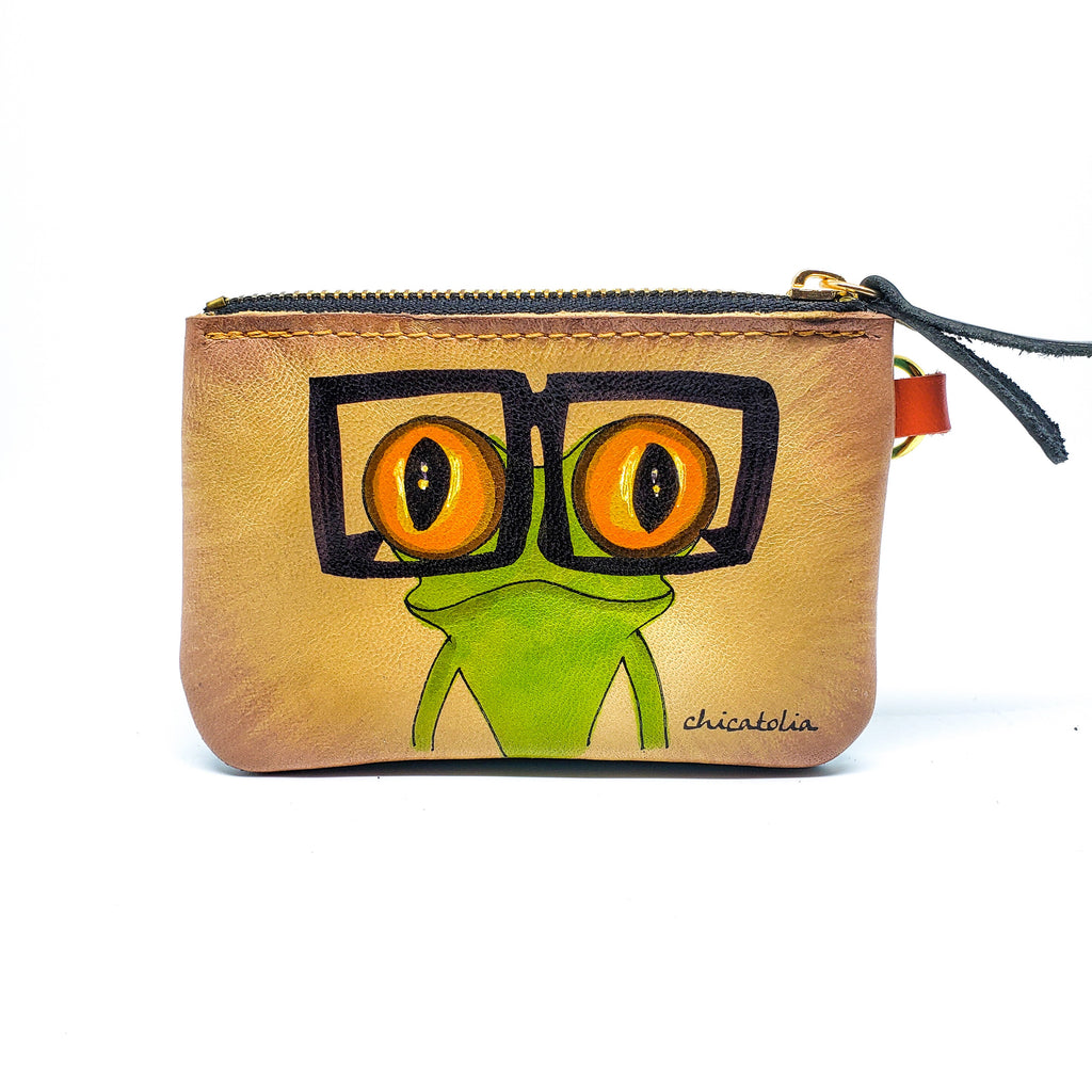 Frog Hand Painted Wallet 100% Handmade - Chicatolia