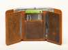 Card Holder - Leather Wallet - 4 Card Pockets - 1 Full Length - Cowhide Leather - Vegetable Tanned - 100% Handmade - Chicatolia
