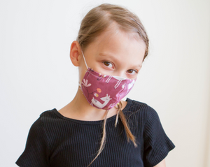 Organic Cotton Face Mask for Kids -  Colorful Fabric Designs - Antibacterial and Waterproof - Chicatolia