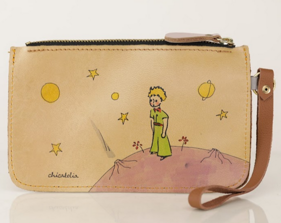 Little Prince Hand Painted Clutch Wallet 100% Handmade - Chicatolia