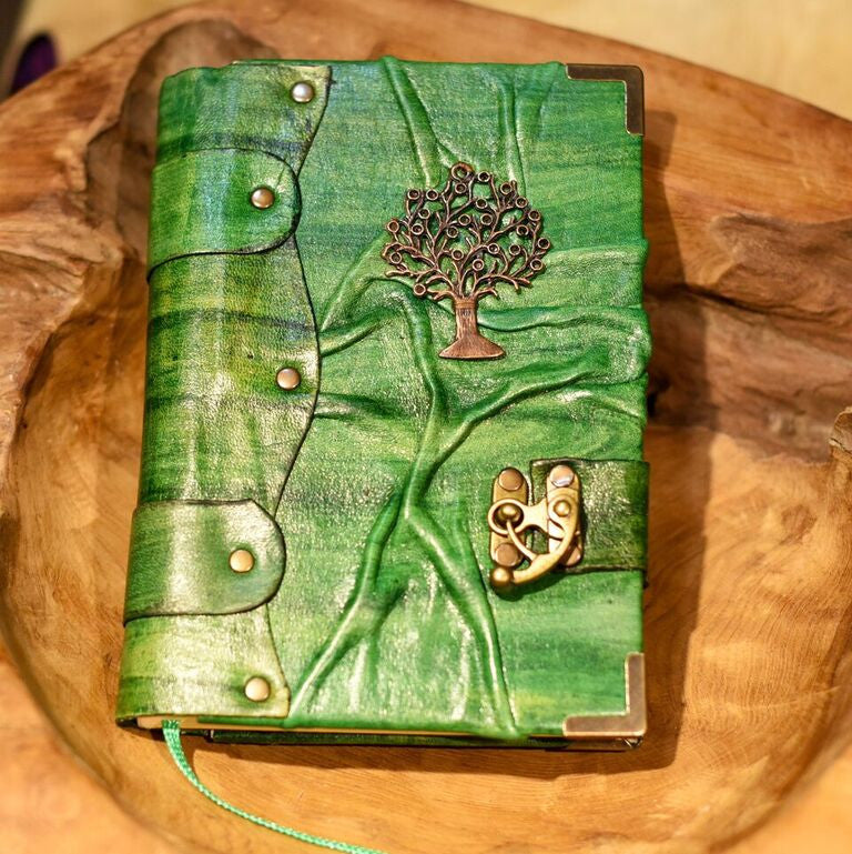 Belt Strap Leather Journal - The Tree of Life - Chicatolia