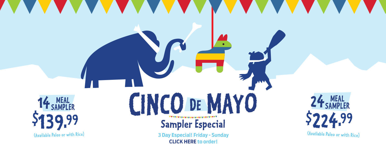 Cinco De Mayo Sampler SALE! But what's with the Mexican Influence at Ice Age Meals?